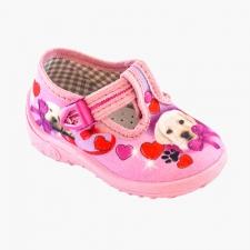 Ružové srdiečka so psíkom
