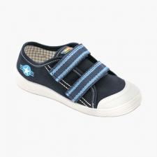 Modrý suchý zips